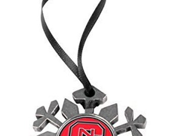 North Carolina State Wolfpack Snowflake Ornament