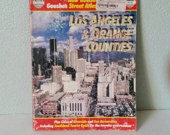 Vintage Street Map Book Los Angeles and Orange Counties 1991