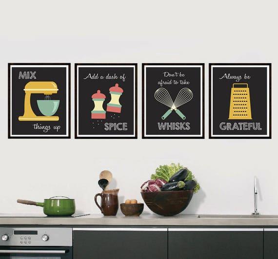 Retro Kitchen Artwork: Retro Kitchen Art Kitchen Utensils Kitchen Prints Puns