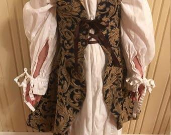 Child's size 6 Renaissance overdress