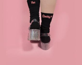 Sì papà? Calzini 1 coppia Baby Girl Grunge Tumblr Instagram Blogger