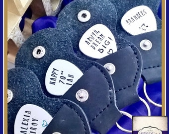 Personalised Guitar Pick - Plectrum Keyring - Father's Day Gift - Music Gift - God Father Gift - Personalised Plectrum - Custom Guitar Pick