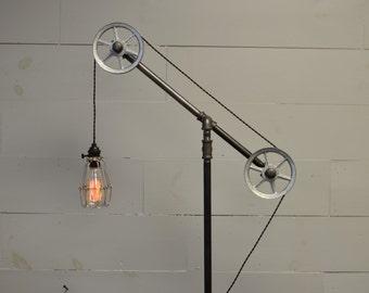 floor light industrial lamp pulley light industrial furniture restoration hardware pipe