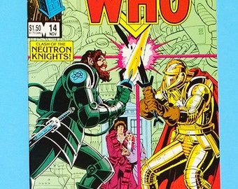 Doctor Who #14 Comic Book, Dr Who Comic, Marvel Comics Doctor Who, (Grade NM) 1985, (B1)