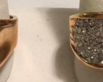Gentlemens bling Rings goldtone CZ size 12
