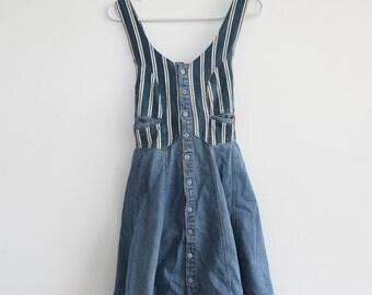 Denim Button-Down Dress