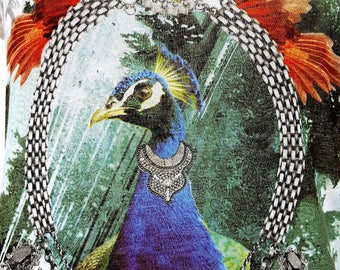 OUTLET! 10% OFF GAS Authentic Vintage 80s Peacock Print limited edition t-shirt size Medium