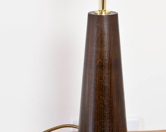 Cone Shape Table Lamp Turned From Ancient Peat Bog Oak