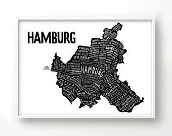 hamburg etsy. Black Bedroom Furniture Sets. Home Design Ideas