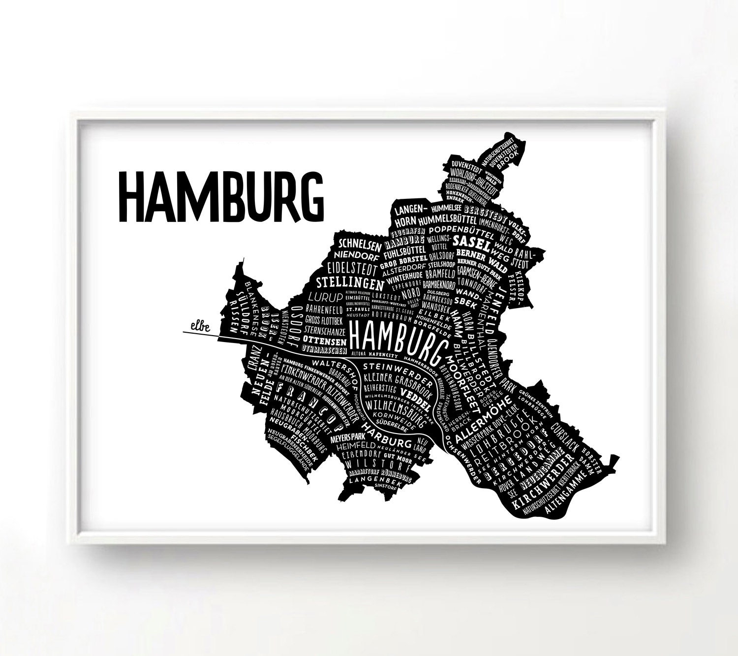 hamburg stadtplan deutschland karte grafik design poster. Black Bedroom Furniture Sets. Home Design Ideas