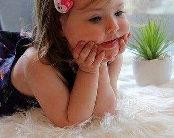 Baby hair accessories - soft headbands and clippies
