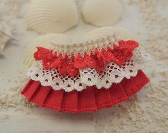 Red Skirt for Monster High, Blythe, Ever After High, Pullip