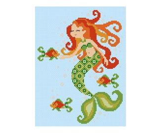 Mermaid - Durene J Cross Stitch Pattern - DJXS2204