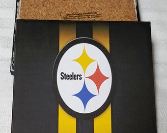 Pittsburgh Steelers Ceramic Tile Drink Coasters / Set of 4