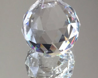 Crystal Ball Prism Pendant - Crystal Clear Faceted Prism 22x16mm - Sold Individually
