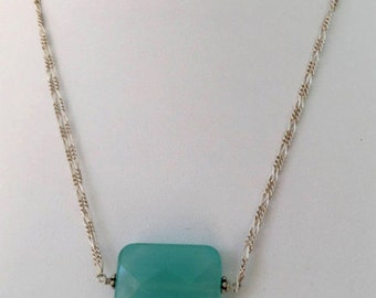 Chalcedony and Sterling Silver Necklace