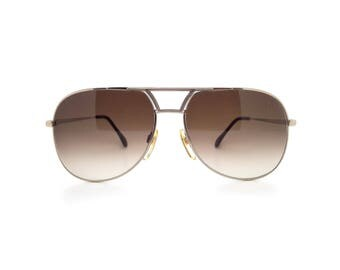 Genuine 1980s Metzler 2745 689 Vintage Gold Aviator Sunglasses // Made in Germany // New Old Stock