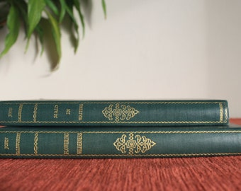 John Galsworthy Maid in Waiting & Flowering Wilderness set of 2 volumes The Grove Edition Heinemann 1930s vintage books