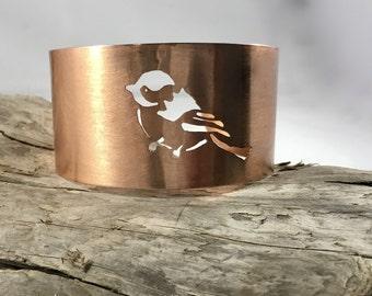 Chickadee Copper Cuff