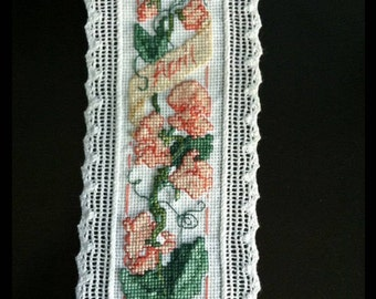Handmade Month of April Cross Stitch Bookmark