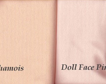 Craft Velour - Chamois and Doll Face Pink - Doll Making Fabric, 1 yard - Sale!
