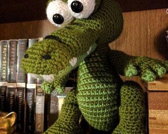 Crocheted Silly Alligator