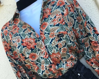 Guess Georges Marciano Vintage Retro 90's Blouse Top Size 2