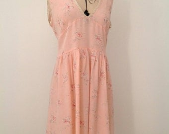 1930s floral nightgown or slip vintage