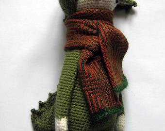 Nursery baby gift Green dragon amigurumi Crochet doll Knit animals Handmade doll Stuffed animals Crochet toys Animal plush Soft doll Raptor