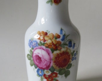 Vintage Porcelain Vase Decorated with Flowers by Rosenthal Selb-Bavaria, Germany 1930's