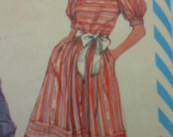 Vintage Simplicity 6379 square neck dress pattern