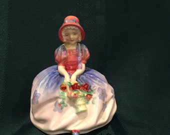 "Vintage Royal Doulton Bone China Figurine ""Monica"""
