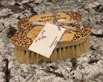 Set of 2 Custom Personalized Horse Grooming Brushes