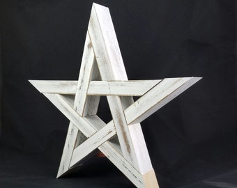 Rustic Wood Star Tree Topper or Wall Art