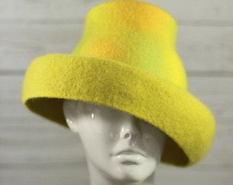 "Hat ""Limoncello""- Felted-100% merino wool"