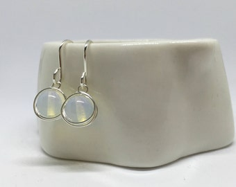 Opalite earrings, 925 sterling silver opalite earrings, silver opalite earrings, opalite jewellery, silver opalite jewelry, opalite