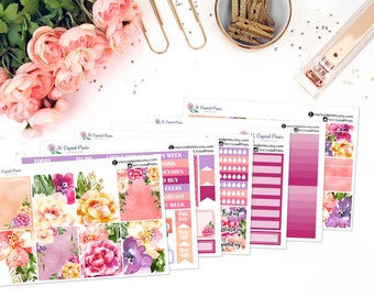 Deluxe Flowers In Bloom Vertical Planner Kit || for use with ERIN CONDREN LIFEPLANNER™.