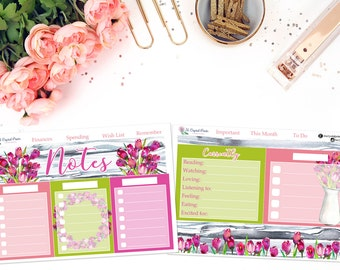 Planner Notes Sticker Kit (April Colors) || for use with ERIN CONDREN LIFEPLANNER™.