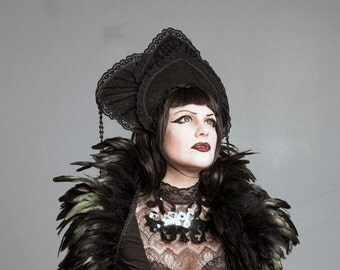feather shrug double black bolero Diana