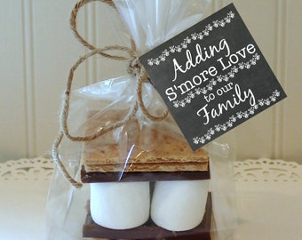 S'mores Favor Tag, Baby Shower Favors, Printable Party Tag, S'mores Bar, Wedding S'mores, Smores labels, Printable Smores Tags, Smores Party