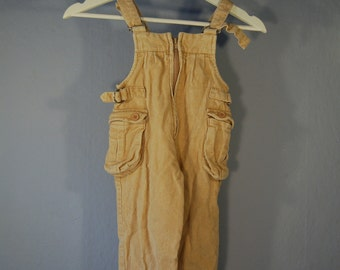 Second hand bib record children 104 dungarees beige trousers kids