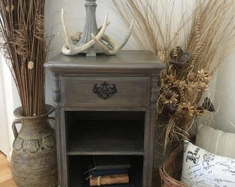 Night Stand With Drawer And Two Shelves By Kling Furniture ~ Rustic Side  Table ~ Bedside