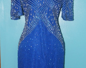 80's Art Deco Laurence Kazar Dress