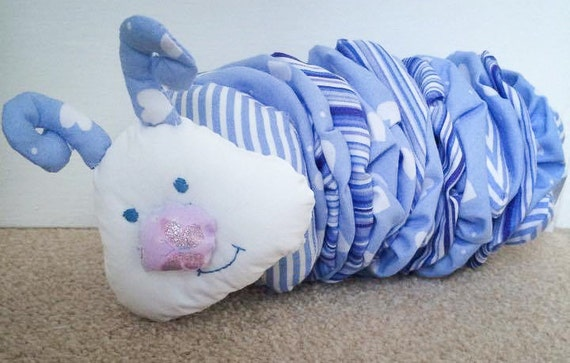 Cedric the eccentric caterpillar made out of your babygro or clothing