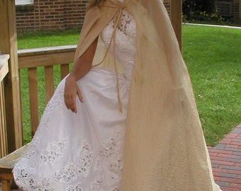 Semi Sheer Gold Wedding Cloak