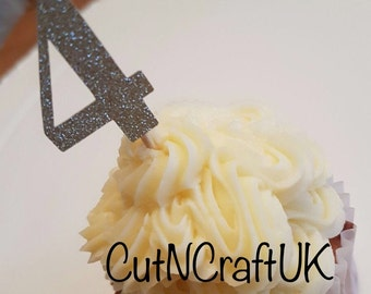 Birthday - Party - Cake - Cup Cake Picks,  personalised cupcake topper, age cake topper, birthdays, custom made topper, small cakes