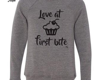 Love at First Bite Crew Neck Sweatshirt