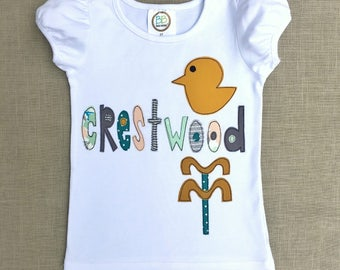 Crestwood Applique Shirt for Girls