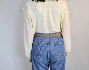 Vintage Embroidered Bohemian 1970's Stockton Of Dallas Blouse Size S/M