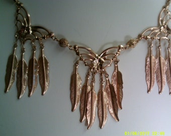 Gold Butterflies and Feathers